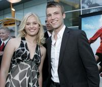 Carly Schoeder and Christopher Shand at the premiere of