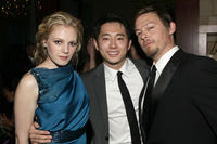 Emma Bell, Steven Yeun and Norman Reedus at the 2011 InStyle and Warner Bros. 68th Annual Golden Globe Awards party in California.