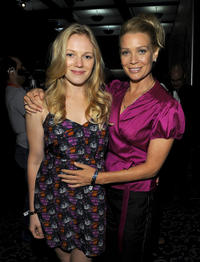 Emma Bell and Laurie Holden at the AMC's The Walking Dead during the Comic-Con 2010.