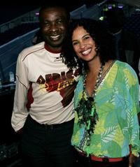Youssou N'Dour and Neneh Cherry at the Live 8 Edinburgh concert.