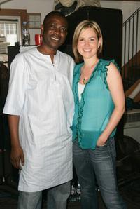 Youssou N'Dour and Dido at the Live 8 Artists Prepare For London And Edinburgh Concerts.