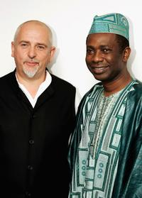Peter Gabriel and Youssou N'Dour at the Music Industry Trusts' Awards and Dinner 2004.