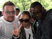 Bono, Misia and Youssou N'Dour at the