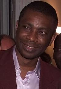 Youssou N'Dour at the Republic palace in Dakar.