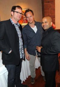 Rainn Wilson, Patrick Wilson and Ajay Naidu at the Juror Welcome Lunch during the 2011 Tribeca Film Festival in New York.
