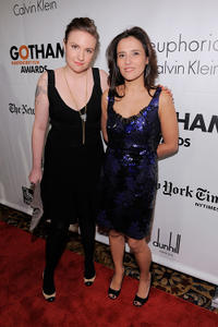 Lena Dunham and executive director of IFP Joana Vicente at the IFP's 20th Annual Gotham Independent Film Awards in New York.