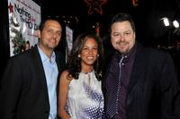 Robert Teitel, Alison Swan and Rick Najera at the premiere of