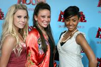 Emma Degerstedt, Malese Jow and Chelsea Tavares at the premiere of
