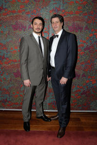 Stephen Pucci and Gary Wilmes at the after party of Broadway opening night of the