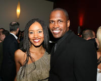 Emelia Burns and Marcus Johnson at the after party of the California premiere of