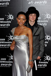 Emelia Burns and Sebastian Gregory at the 2009 Samsung Mobile AFI Awards in Australia.