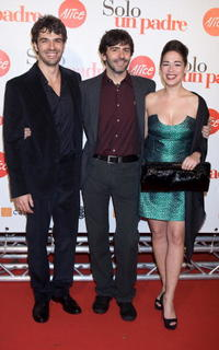 Luca Argentero, Luca Lucini and Diane Fleri at the premiere of