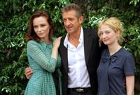 Francesca Neri, Ezio Greggio and Alba Rohrwacher at the photocall to promote
