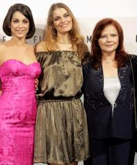 Donatella Finocchiaro, Claudia Zanella and Agostina Belli at the premiere of