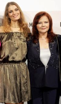 Claudia Zanella and Agostina Belli at the premiere of