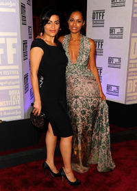 Yasmine Al Masri and Rula Jebreal at the premiere of