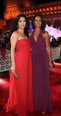 Yasmine Al Masri and Rula Jebreal at the Opening Night Gala of 2010 Doha Tribeca Film Festival.