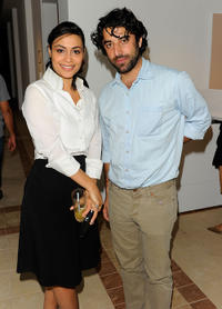 Yasmine Al Masri and Karim Saleh at the Brigitte Lacombe Exhibit Tour during the 2010 Doha Tribeca Film Festival.