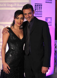 Yasmine Al Masri and Alexander Siddig at the premiere of