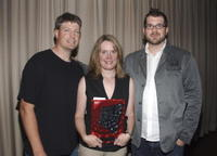 Steve Wiebe, Nicole Wiebe and director Seth Gordon at the screening of