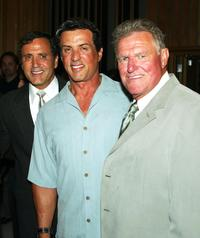 Frank Stallone, Sly Stallone and Charles Napier at the Frank Stallone's CD Listening and Release party.