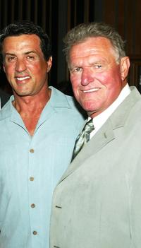 Sly Stallone and Charles Napier at the Frank Stallone's CD Listening and Release party.