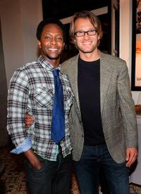 Edi Gathegi and Johann Urb at the DJ Night hosted by Vanity Fair and Hudson Jeans.