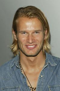 Johann Urb at the WB Upfront All-Star party.