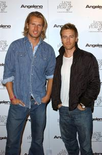 Johann Urb and Ryan Krause at the Angeleno Magazine and Lion Gates Pre-Oscar party.