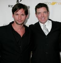 James O'Shea and Les Williams at the premiere of