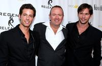 Philipp Karner, C. Jay Cox and James O'Shea at the premiere of