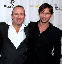 C. Jay Cox and James O'Shea at the premiere of