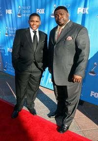 Larramie Doc Shaw and LaVan Davis at the 39th NAACP Image Awards.