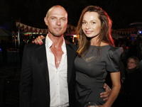 Luke Goss and Anna Walton at the premiere of
