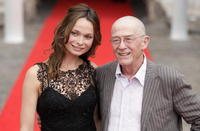 Anna Walton and John Hurt at the premiere of