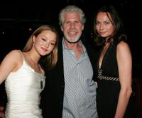 Devon Aoki, Ron Perlman and Anna Walton at the premiere of