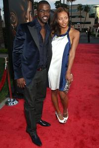 Lance Gross and Eva Pigford at the premiere of