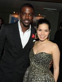 Lance Gross and America Ferrera at the after party of the New York premiere of