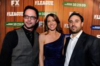 Nick Kroll, Jeff Schaffer and Jackie Marcus Schaffer at the premiere screening of