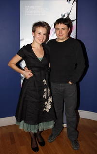 Anamaria Marinca and Director Cristian Mungiu at the screening of