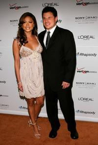 Vanessa Minnillo and Nick Lachey at the Clive Davis pre-Grammy party.