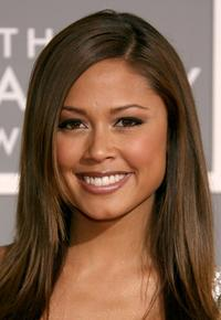 Vanessa Minnillo at the 49th Annual Grammy Awards.