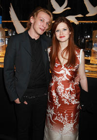 Jamie Campbell Bower and Bonnie Wright at the after party of the Soho House Grey Goose in London.