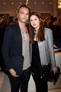 Jamie Campbell Bower and Bonnie Wright at the Gucci Icon Temporary store opening in London.