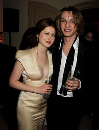 Bonnie Wright and Jamie Campbell Bower at the after party of BAFTA Soho House Grey Goose in London.