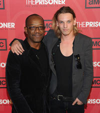 Lennie James and Jamie Campbell Bower at the New York premiere of