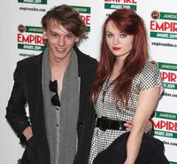 Jamie Campbell Bower and Guest at the Jameson Empire Awards 2009.