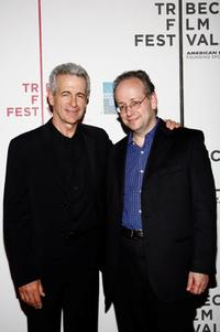 James Naughton and Gordon Crovitz at the premiere of