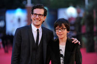 Author Brian Selznick and Asa Butterfield at the premiere of