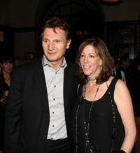 Liam Neeson and Jane Rosenthal at the Chanel Tribeca Film Festival Dinner during the 2008 Tribeca Film Festival.